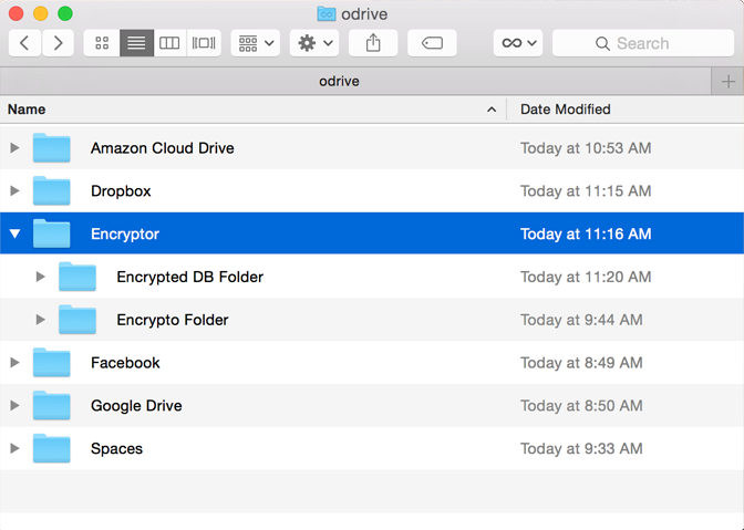 Have as many encrypted folders as you want on any storage