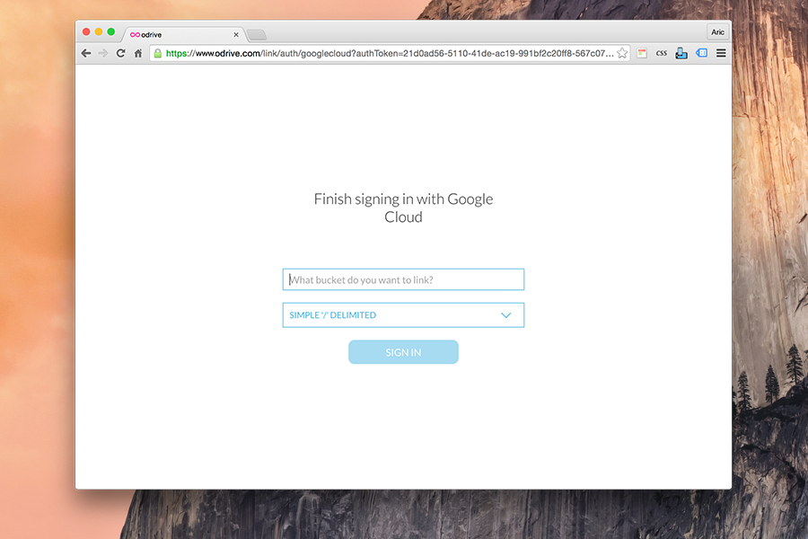 Link Google Cloud Storage