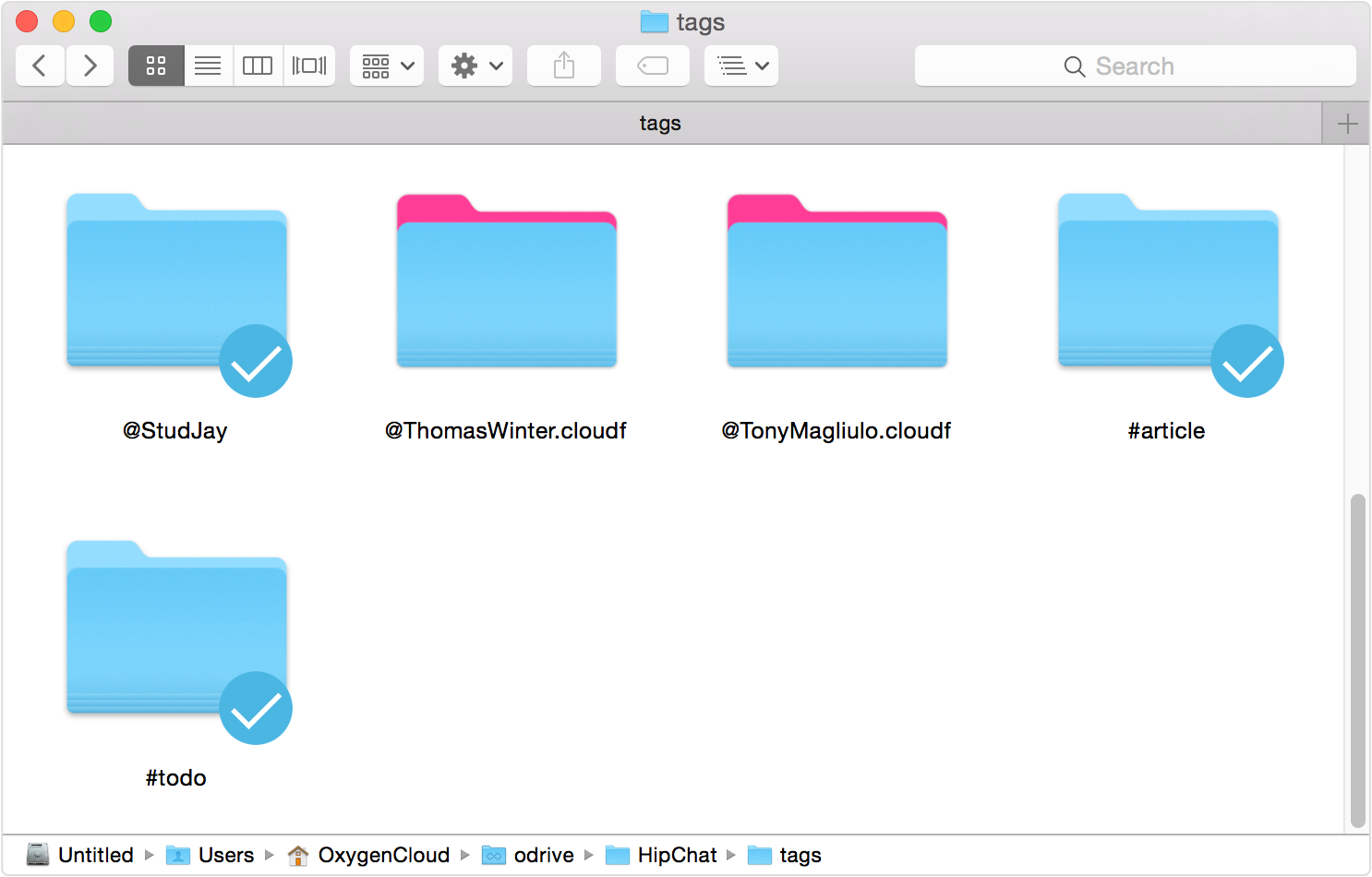 Access files based on #hashtags and @tags