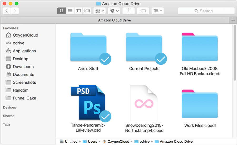 Files I use stay synced, the rest stays in the cloud
